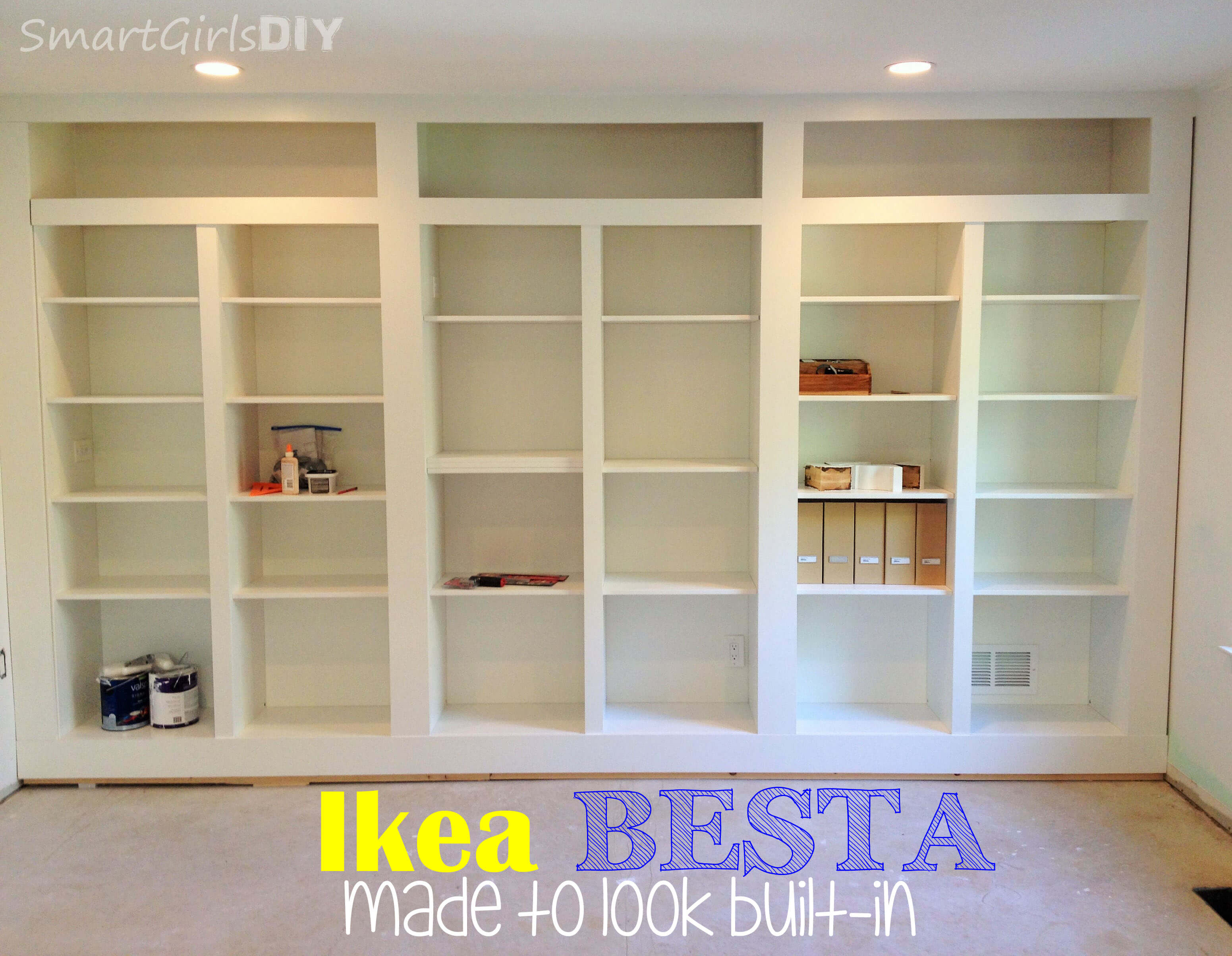 Making Bookshelves Look Built In Home Design