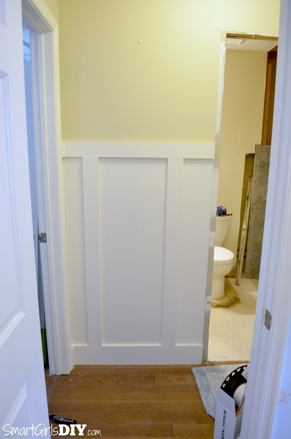 Installing Pocket Doors Bathroom : Guest bathroom how to install a pocket door johnson