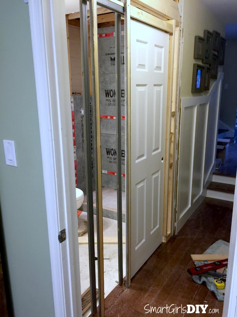 Superieur ... Small Of Installing A Pocket Door ...