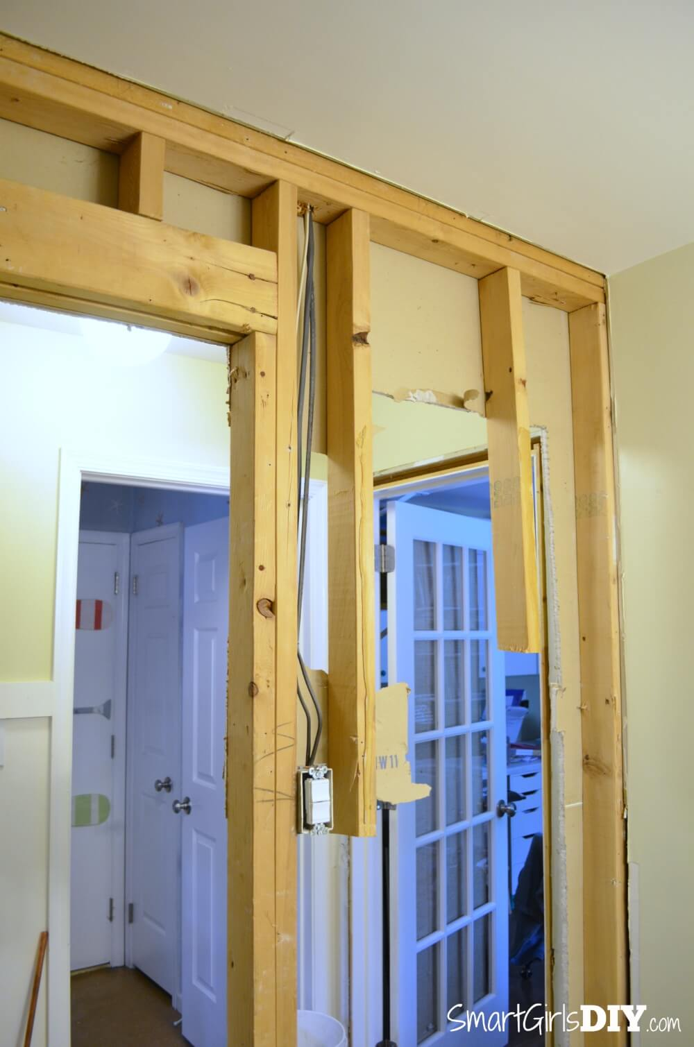 how to build and install picture frame molding on cut crown molding over door
