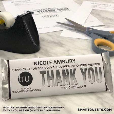 Printable Custom Candy Bar Wrapper PDF Template - Print at Hotel - candy bar wrapper template