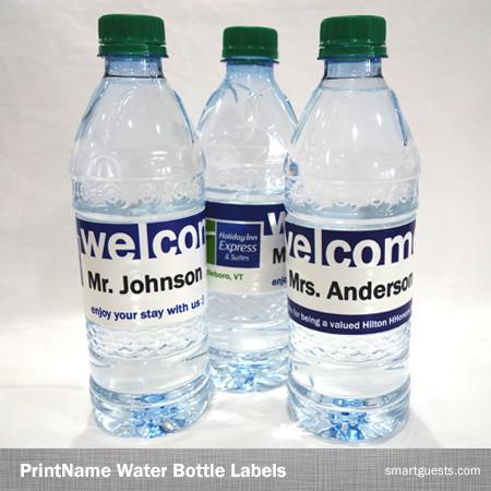 Printable Custom Water Bottle Wrapper PDF Template - Print at Hotel