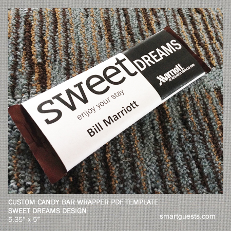 Printable Custom Candy Bar Wrapper PDF Template - Print at Hotel