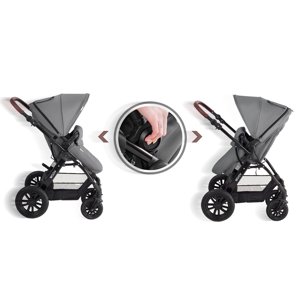 Easywalker Kombi Kinderkraft Moov 3 In 1 Travel System Grey Smart Kid Store