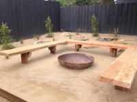 Fire pit and bench seating - Landscaping Excellence ...