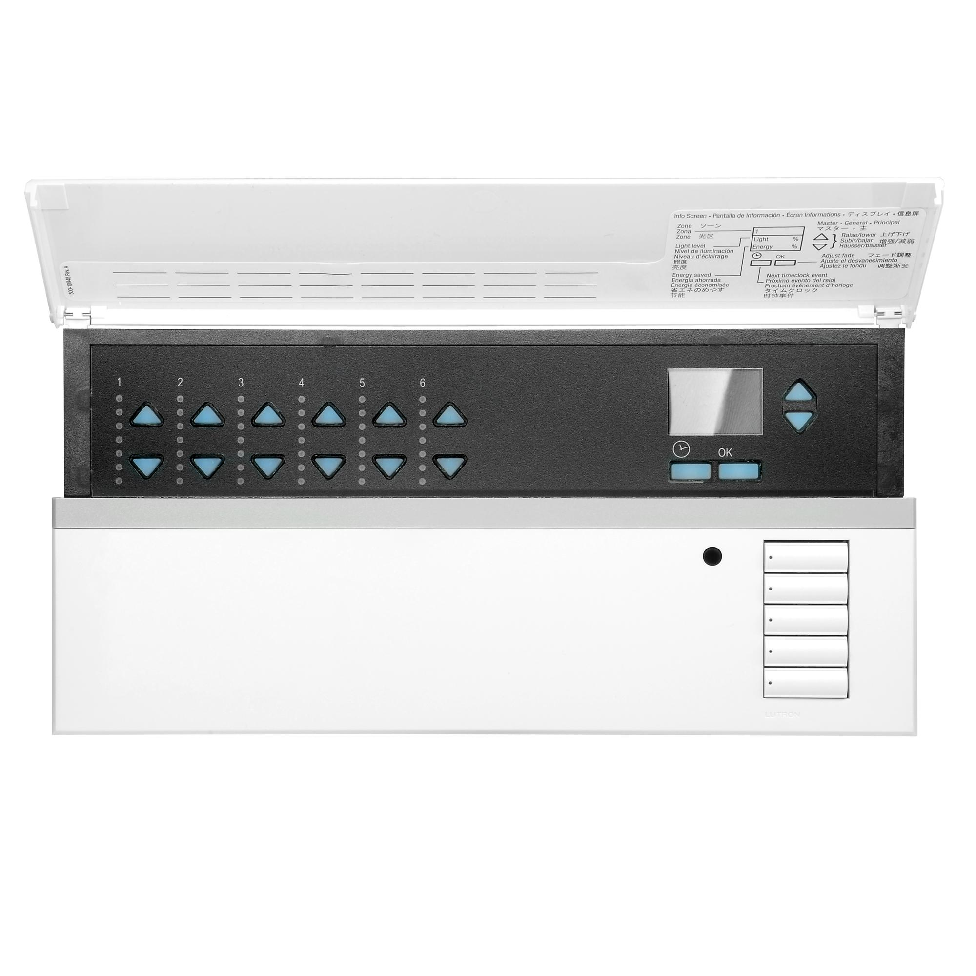 Lutron 4 Zone Lighting Control Lutron Qsgrk-6pce-twh Grafik Eye Qs 6 Zone Lighting