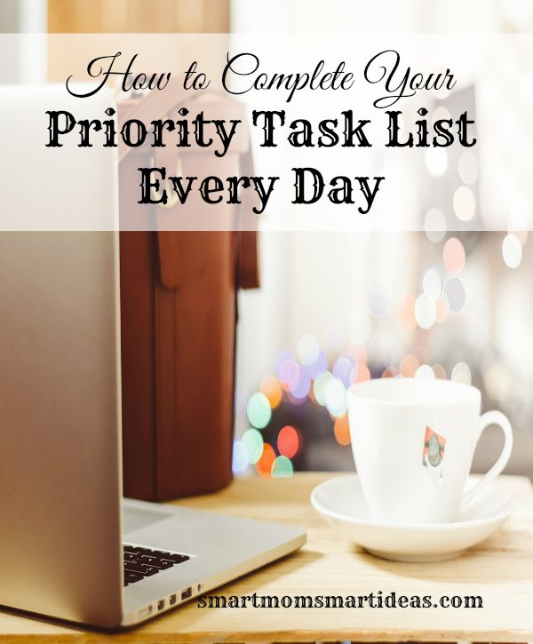 How to Complete your Priority Task List Every Day - task list