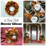 15 easy fall home decor ideas that will make your home ready for fall. Check out these easy to make wreaths, table centerpieces and more...