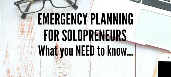 emergency planning for solopreneurs