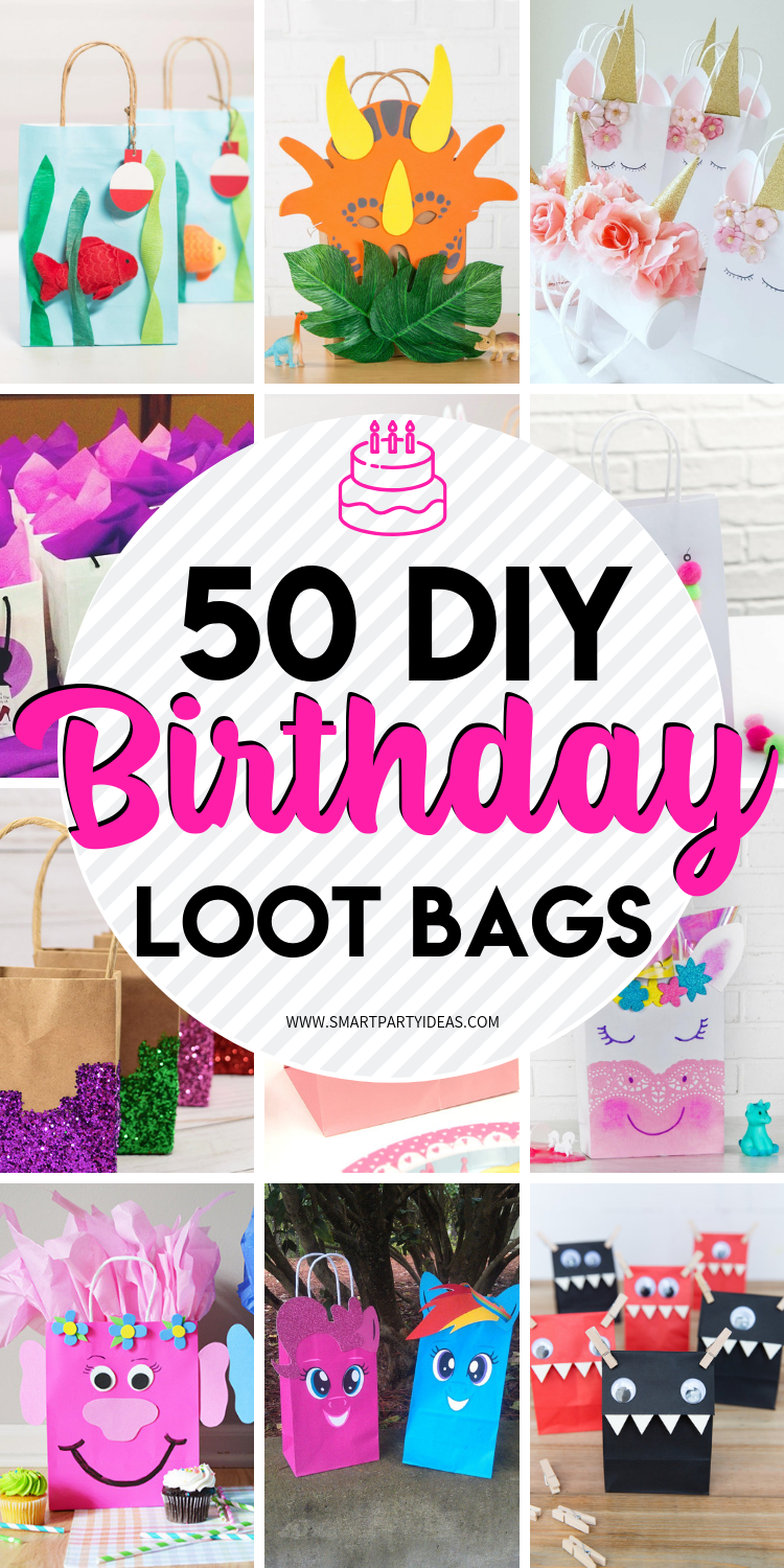Diy Party 50 Diy Birthday Party Favor Gift Bags Smart Party Ideas