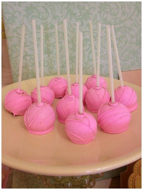 Princess Pink Cake Pops
