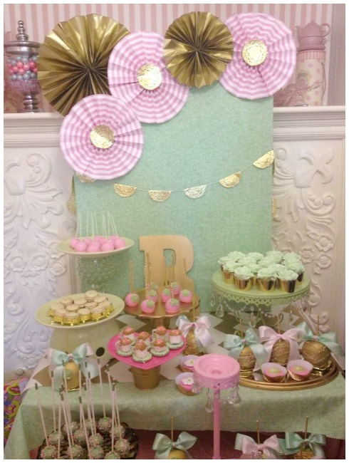 Princess Tea Party Dessert Table