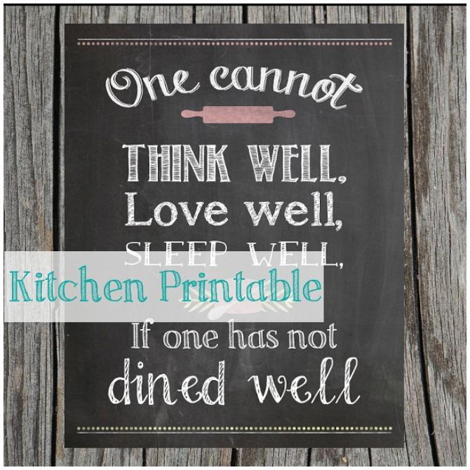 Chalkboard Kitchen Printable