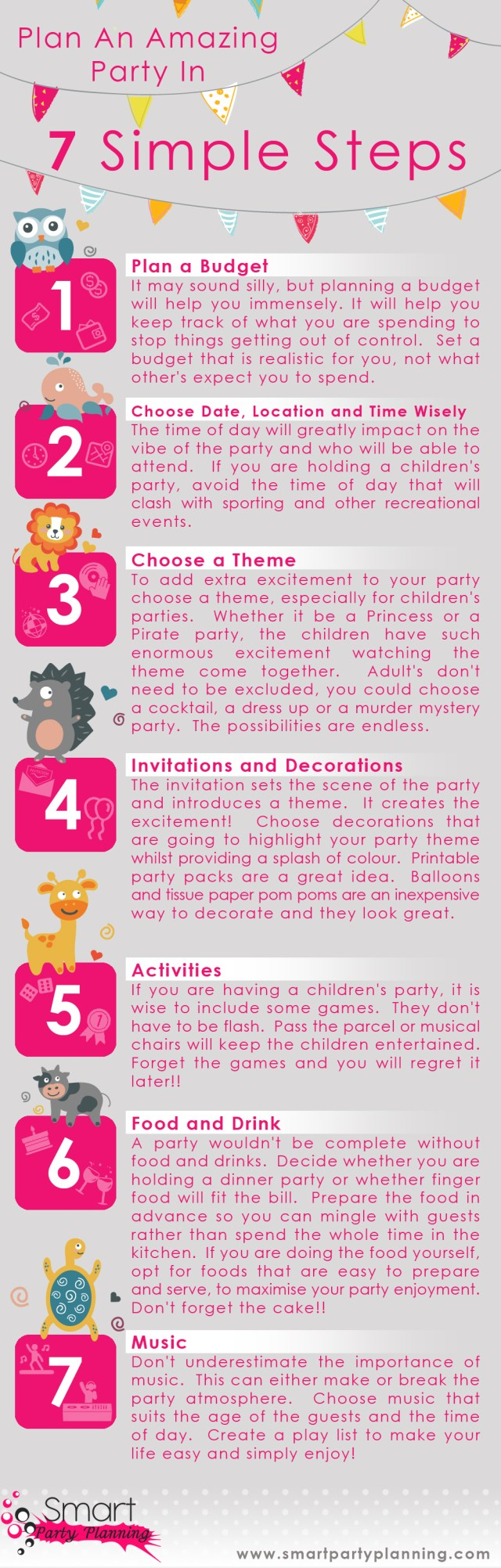 Infographic How To Plan A Party