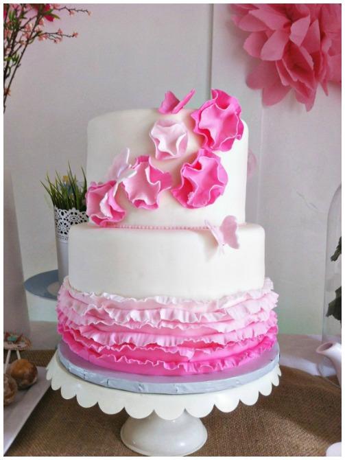 Ruffle Fairy cake