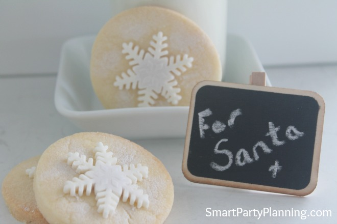 An easy shortbread snowflake cookie recipe that will be a favorite Christmas treat. Leave out for Santa or enjoy as a family. Delicious, festive and easy!
