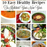 10 Easy healthy recipes which are perfect for kick starting your New Year. Delicious yet healthy, they are the perfect meals for your family.