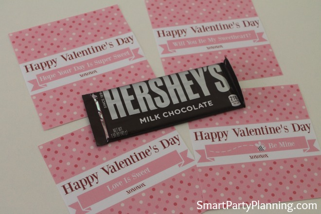 Printable Valentine's Day Hershey Bar Wrappers