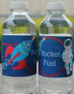 Free Space Water Bottle Labels