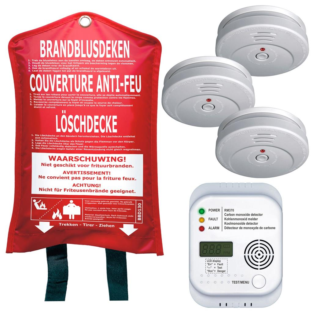 Löschdecke Test Smartwares 10.026.14 Fire Safety Set Fss-15 | Smartwares