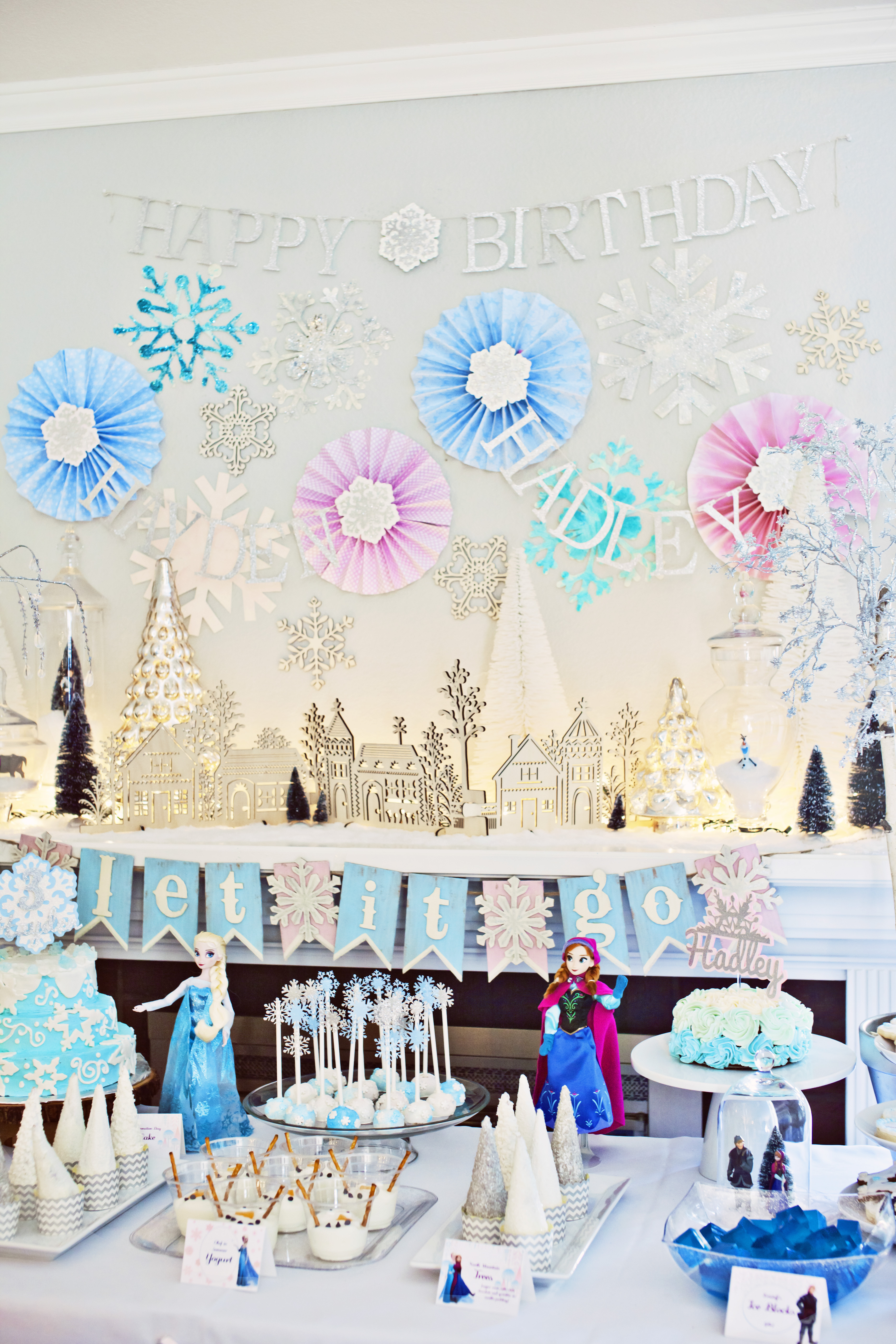 Diy Backdrop Stand For Dessert Table Sisters Frozen Birthday Party Smash Cake