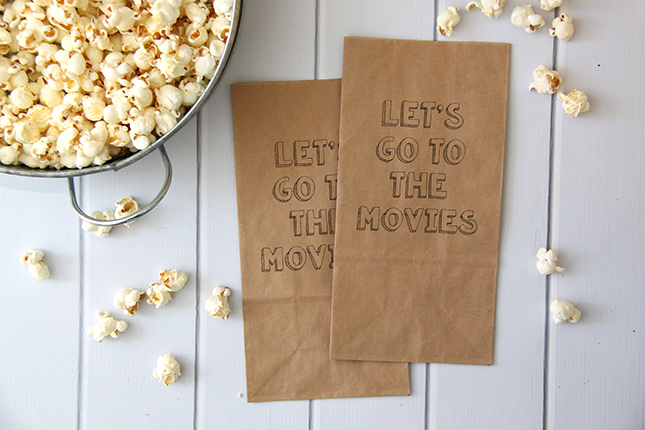 DIY Printable Popcorn Bags - Smashed Peas  Carrots