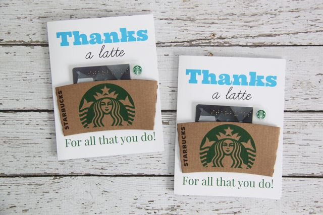 Free Printable Thanks A Latte Coffee Gift Card - Smashed Peas  Carrots