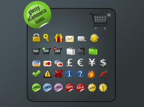 Glossy Ecommerce Icons 35 High Quality Free Ecommerce Icons