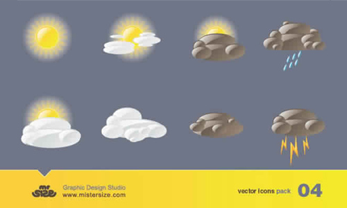 weather icon set 28 35 Free Weather Icon Set