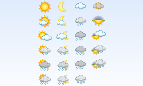 weather icon set 30 35 Free Weather Icon Set