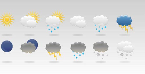weather icon set 35 35 Free Weather Icon Set