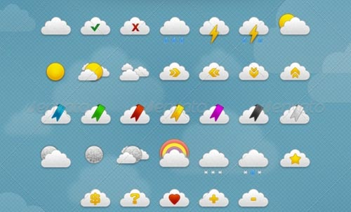 best premium cloud icons set 01 38 Best Premium Cloud and Forecast Icons Set
