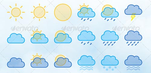 best premium cloud icons set 08 38 Best Premium Cloud and Forecast Icons Set
