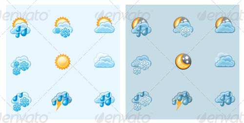best premium cloud icons set 14 38 Best Premium Cloud and Forecast Icons Set