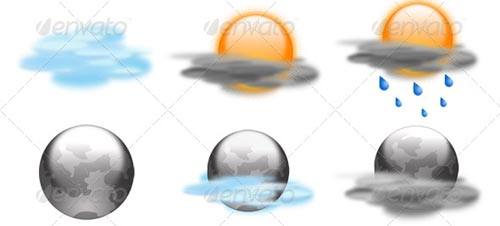 best premium cloud icons set 15 38 Best Premium Cloud and Forecast Icons Set