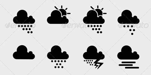 best premium cloud icons set 28 38 Best Premium Cloud and Forecast Icons Set