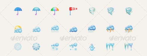 best premium cloud icons set 32 38 Best Premium Cloud and Forecast Icons Set