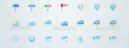 best premium cloud icons set 36 38 Best Premium Cloud and Forecast Icons Set