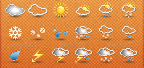 best premium cloud icons set 37 38 Best Premium Cloud and Forecast Icons Set