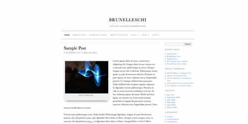 brunelleschi wordpress theme 14 Free Mobile WordPress Themes and Plugin