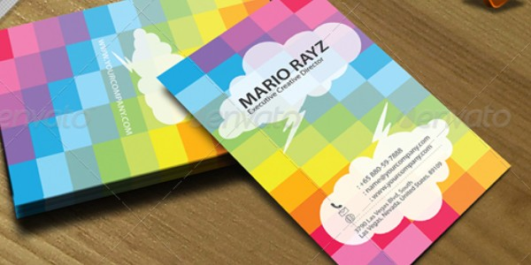 colorful business card inspiration 30 40 Colorful Business Cards Inspiration
