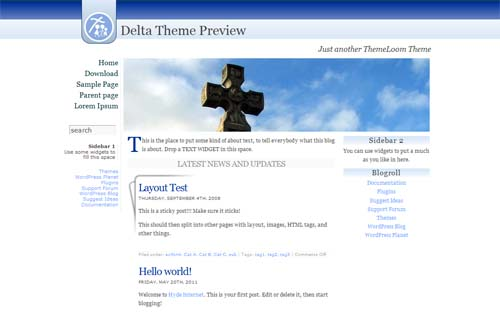 delta theme 30 Free and Premium Church Wordpress Themes