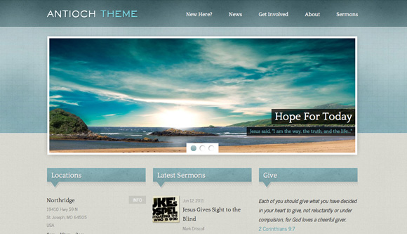 free and premium church wordpress themes Antioch 30 Free and Premium Church Wordpress Themes