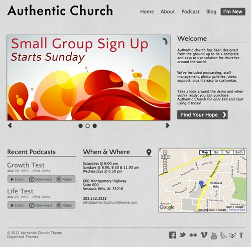 free and premium church wordpress themes Authentic 30 Free and Premium Church Wordpress Themes