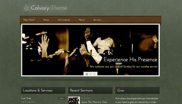 free and premium church wordpress themes Calvary 30 Free and Premium Church Wordpress Themes