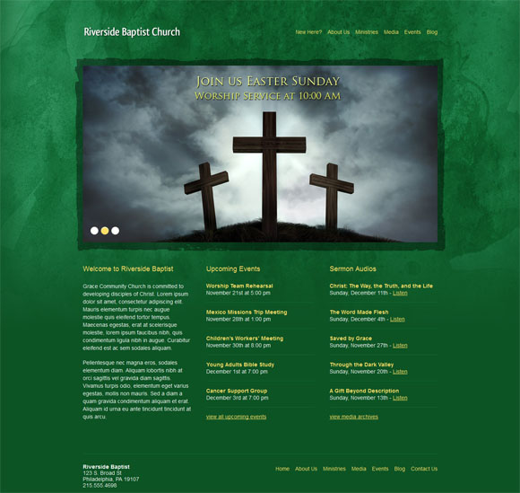 free and premium church wordpress themes Riverside 30 Free and Premium Church Wordpress Themes