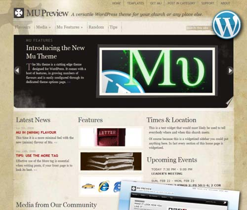 free and premium church wordpress themes mu 30 Free and Premium Church Wordpress Themes