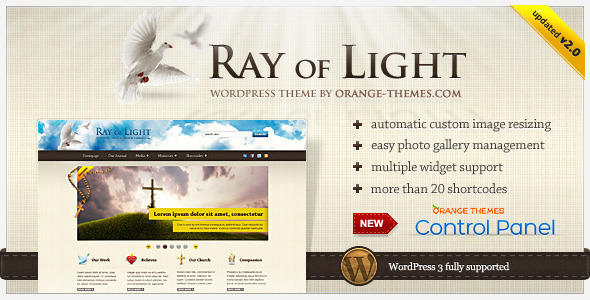 free and premium church wordpress themes ray 30 Free and Premium Church Wordpress Themes
