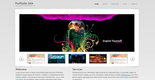 free portfolio html website templates 04 15 Free Portfolio HTML Website Templates