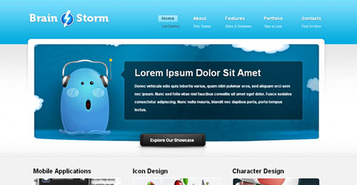 free portfolio html website templates 12 15 Free Portfolio HTML Website Templates
